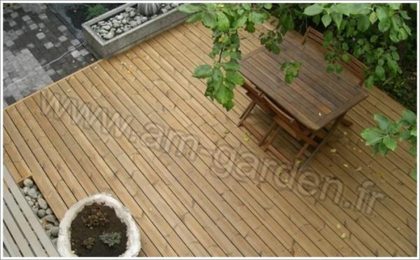 Kit de terrasse en bois (21mètres carrés)