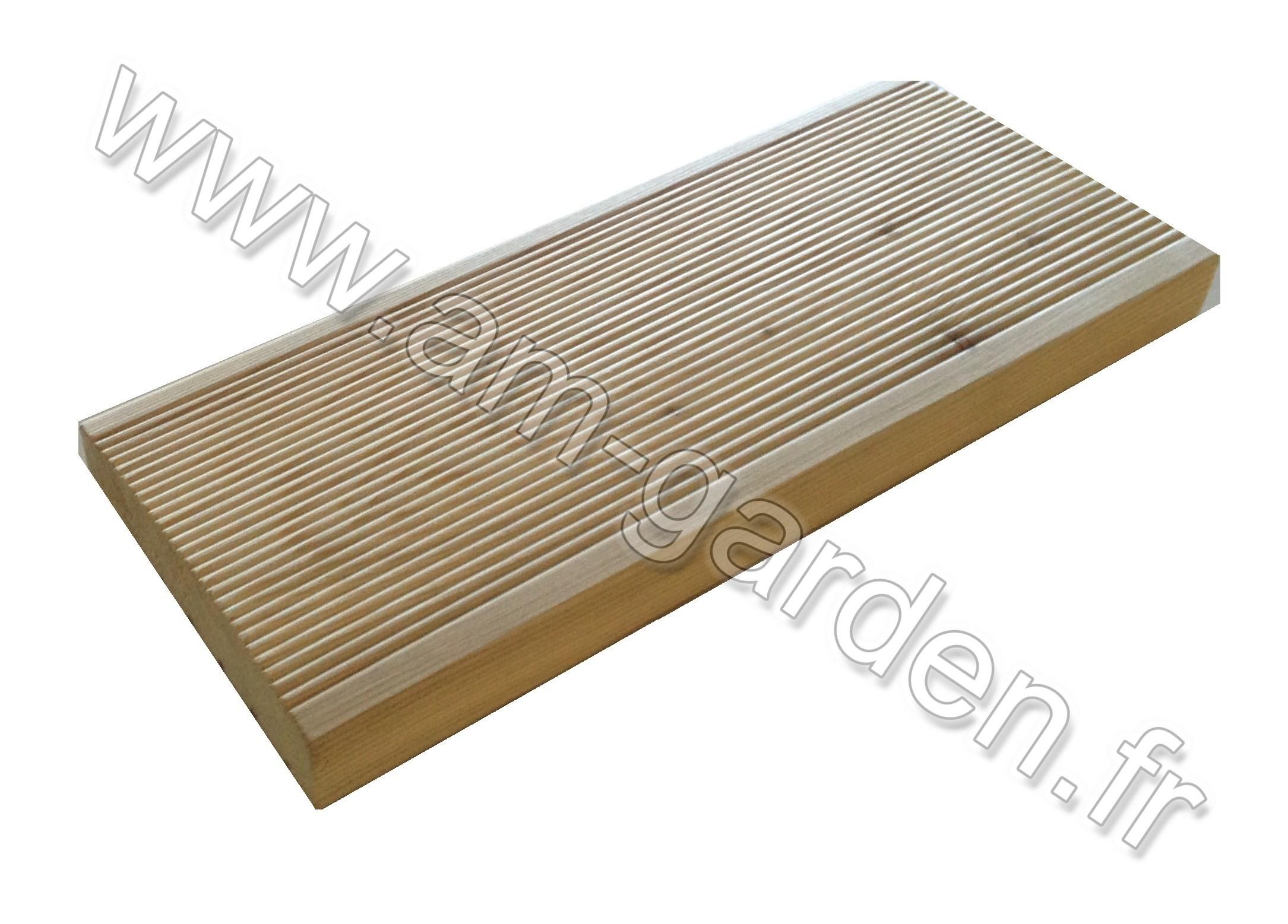 Planche de terrasse en meleze 28 145 3000mm - Planche resine terrasse ...