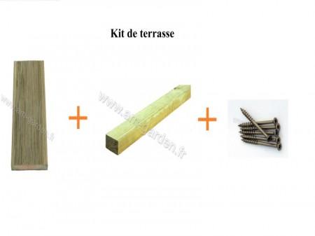Kit de terrasse en bois (1mètre carré)