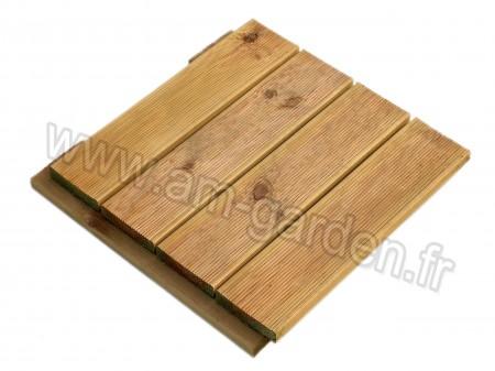 Dalle de terrasse en bois 50*50cm (1m² = 4 dalles)