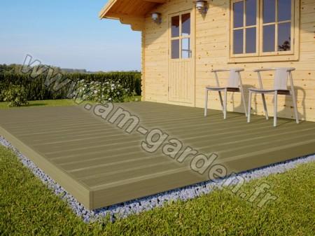Kit de terrasse en bois (15 mètres carrés)