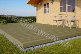 Kit de terrasse en bois (12 mètres carrés)