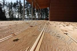 Planche de terrasse en bois 28*120*3000mm Marron