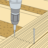 Montage terrasse